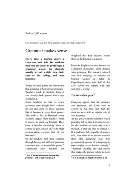 Grammar | Engelsk Skriftlig Eksamen Maj 2012