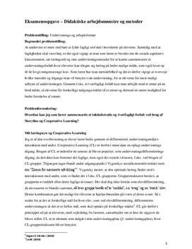 Didaktiske arbejdsmønstre og metoder