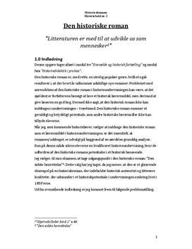Den historiske roman | Synopsis