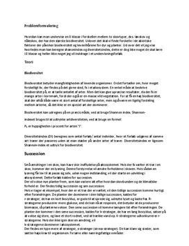 Biodiversitet, løv og nåleskov | Studieprodukt