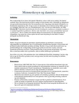 Menneskesyn og Dannelse | Disposition i KLM