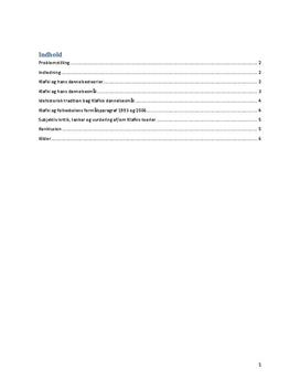 Klafkis Dannelsesteori | Eksamensopgave i KLM