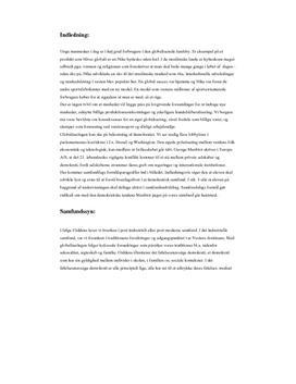 Det globale samfund | Eksamensopgave og undervisningsforløb