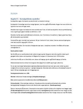 Noter til bogen Socialpolitik