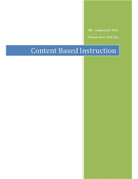 CBI – Content Based Instruction | Studieprodukt