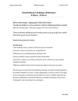 Undervisningsforløb i didaktisk design