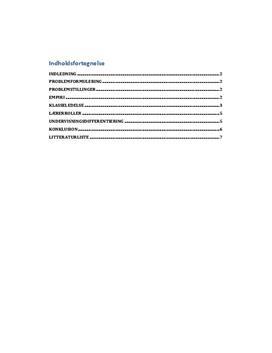 Synopsis til praktikeksamen 1. år