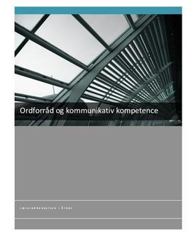 BA: Ordforråd og kommunikativ kompetence