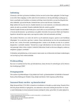 Dannelse & værdier | Synopsis i KLM