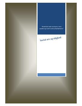 Social arv og ulighed | ISS eksamen