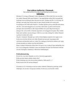 Enevældens indførelse i Danmark | Synopsis