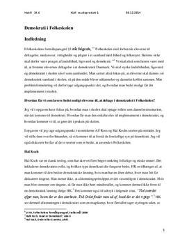 Demokrati i skolen | Hal Koch og Alf Ross
