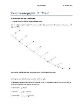 Mus | Eksamensopgave i matematik
