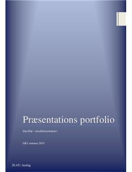Præsentationsportfolio til pædagog