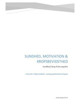Praksisprojekt   Sundhed, motivation og kropsbevidsthed