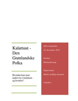 Den Grønlandske Polka i musik
