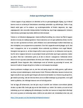 Analyse og vurdering af elevtekst | Studieprodukt