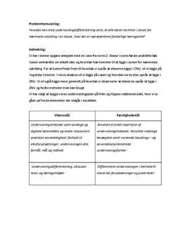 Studieprodukt om elevdifferentiering og stilladsering