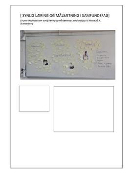 Praktiksynopsis om synlig læring og målsætning i Samfundsfag