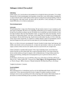 Studieprodukt om opvarmning til dans, udtryk og bevægelse