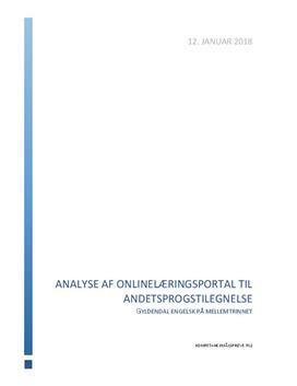 Analyse af Gyldendals onlinelæringsportal til andetsprogstilegnelse