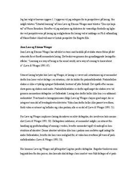 Læringsbegreb | Bourdieu | Jean Lave | Etienne Wenger