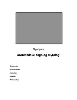 Grønlandske sagn og mytologi | Synopsis