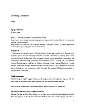 Kompetencemålsprøve om teaching grammar