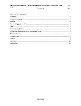 Andetsprogspædagogik og undervisning af tosprogede