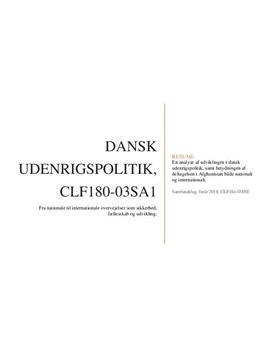 Dansk udenrigspolitik | Studieprodukt