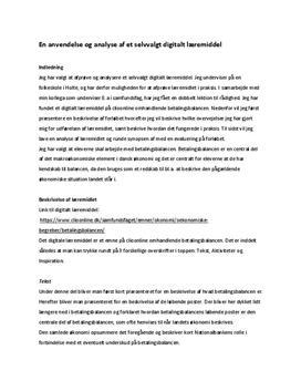 Analyse af digitalt læremiddel fra Clio Online