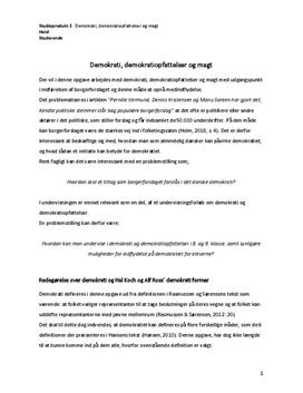 Demokrati og demokratiopfattelser i 8. og 9. klasse