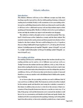 Didaktisk refleksion | Engelsk | Modulprøve
