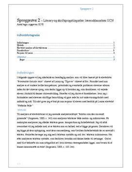 Sprogprøve med analyse af elevtekst