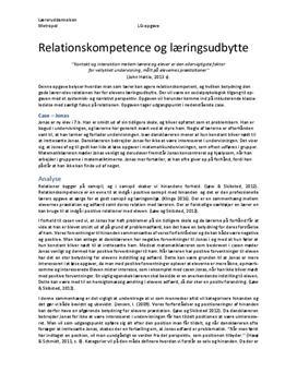 Relationskompetence og læringsmiljø | PL