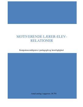 Motiverende lærer-elev-relationer   Kompetencemålsprøve