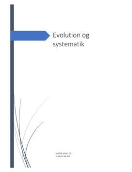 Evolution og systematik | Studieprodukt