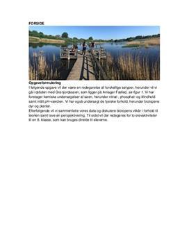 Grønjordssøen og elevaktiviteter i 8. klasse