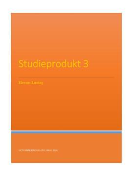 Elevens læring og udvikling | PL studieprodukt