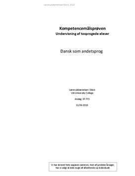 Fremme tosprogedes læseforståelse   PL eksamen