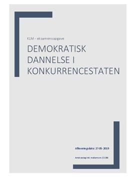 Demokratisk dannelse i konkurrencestaten | Synopsis i AD/KLM