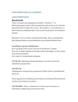 Læsefidusen 1 | Læremiddelanalyse og -produktion
