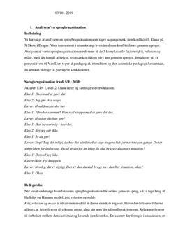 Analyse af sprogbrugssituation