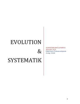 Evolution og systematik | Kompetencemålsprøve i biologi