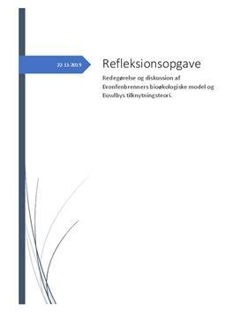 Refleksionsopgave om Bronfenbrenner
