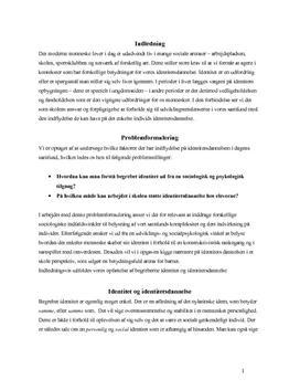 Identitetsdannelse eksamensopgave