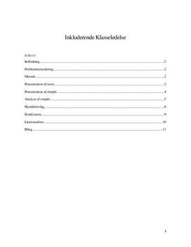 Inkluderende klasseledelse og Kulturel inklusion