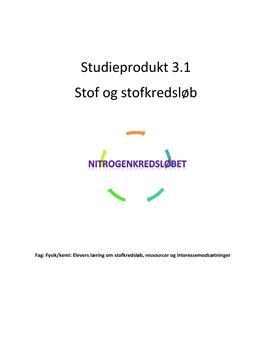Stof og stofkredsløb | Studieprodukt 3. modul