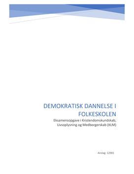 Demokratisk dannelse i folkeskolen