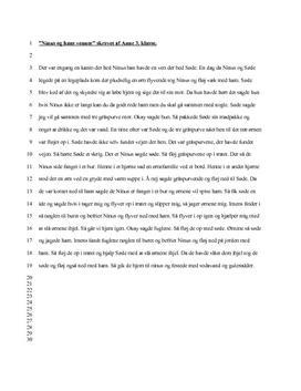 Analyse af tekst skrevet af elev fra 3. klasse